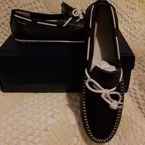 NWT Cole Haan black and white loafers size 13
